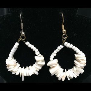 Jewelry - 🔵 3 for 15 Sea Shell Hoop Dangle Earrings Beach